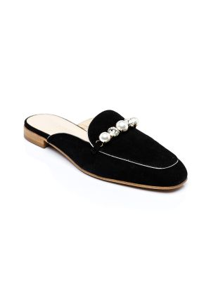 black suede open back loafer - last pairs