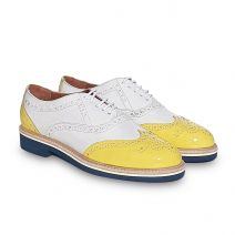 Look oxfords leather flat shoes