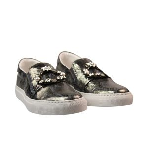 python embellished sneakers